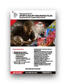 Sports Injury Insurance Flier